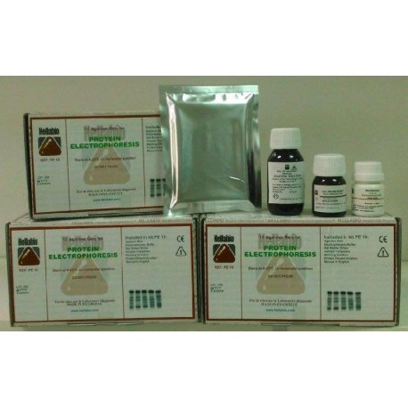Kit pentru electroforeza proteinelor serice Hellabio 140 teste